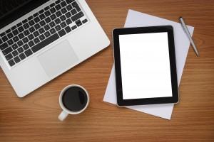 Desktop coffee ipad