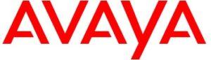 Avaya logo, representing Avaya Aura UCaaS offering.