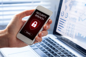 smartphone security breach warning