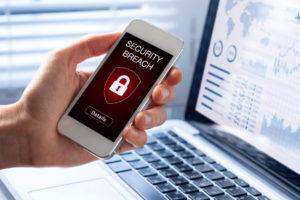 smartphone security breach warning