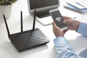 Wireless networking Wi-Fi concept