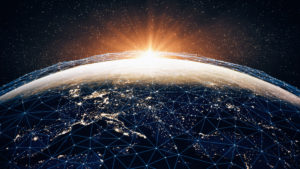 global communications network illustration