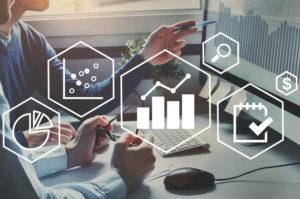 Business intelligence tools illustration.