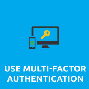 use multi-factor authentication or two-factor authentication graphic.