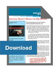 Proprietary Cybersecurity Project for U.S. Military