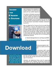 Security Incident Response for HVAC/R Warranty Solutions Provider
