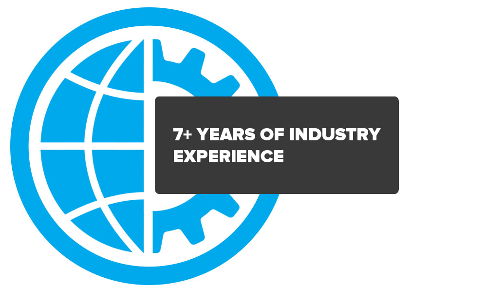 7+ years of industry experience