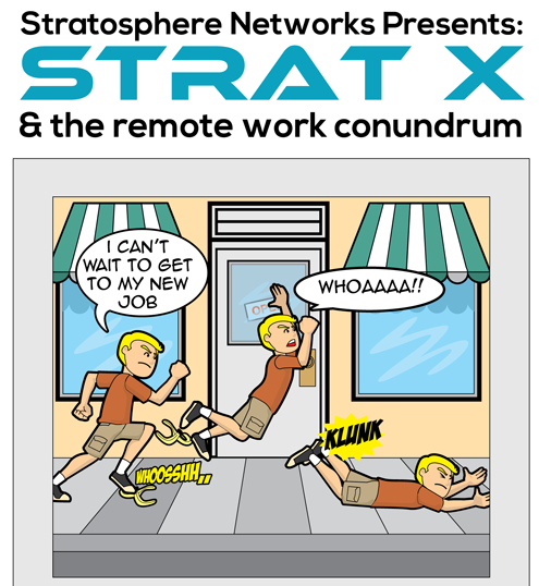 Remote Work Services Comic